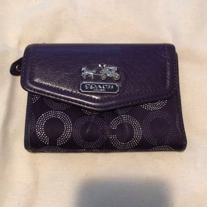 Purple and Silver Coach Wallet